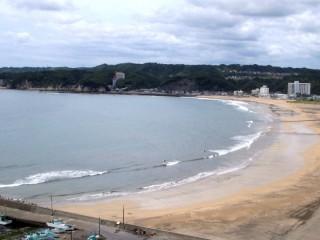 波が無い岩和田ビーチ