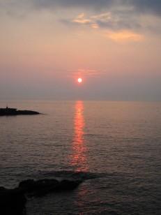 太房岬の日没
