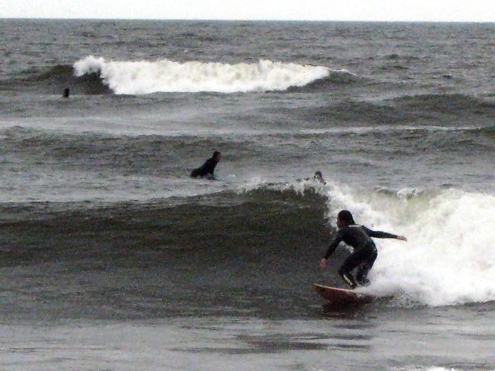 アウトの波は途中で消えてしまう