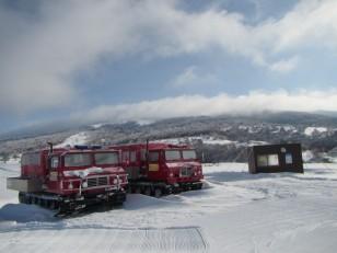 奥ダボススキー場のゲレンデトップ