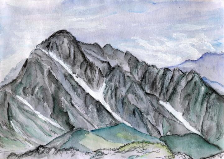 剱岳・北方稜線を歩くためにやってきた立山 明日はあの稜線を越えて行くのだ
