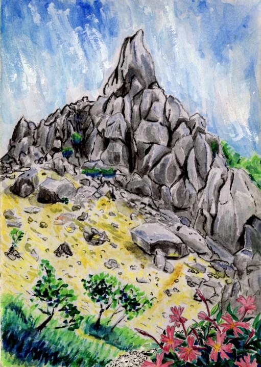 鳳凰三山 地蔵岳のオベリスク