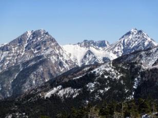 阿弥陀岳、赤岳の展望