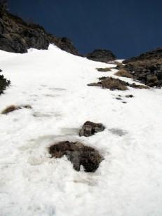 氷面の直登