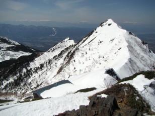 権現岳頂上の景色