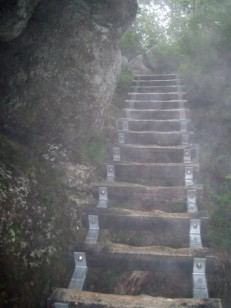 黒戸尾根の梯子