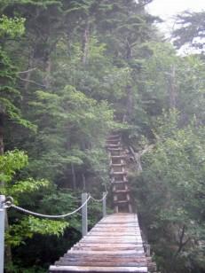 黒戸尾根の吊り橋