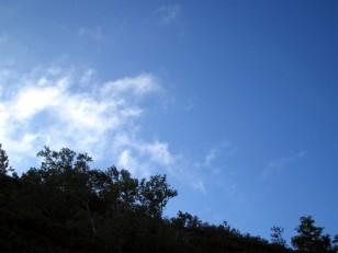 青空が広がりだす