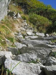 白亜の石階段