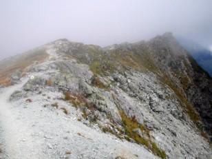 白ザレの稜線
