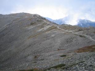 広い稜線道