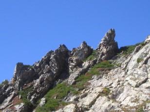 大天井岳裏側の大岩