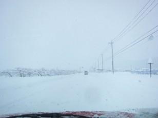 雪降る帰路