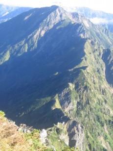 わくわくの岩稜線