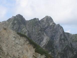 険しい岩峰 不帰ノ嶮