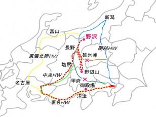 帰路の略図