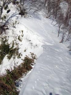 南斜面は崖