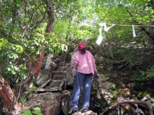 クサリ場の階段