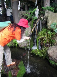 武甲山の伏流水