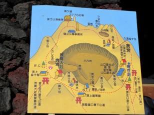 富士山山頂縁をぐるり