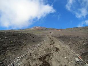 広大な富士山の斜面