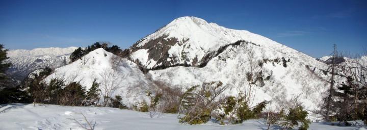 五地蔵山からの高妻山
